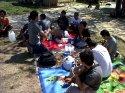 makan siang di nusa dua beach